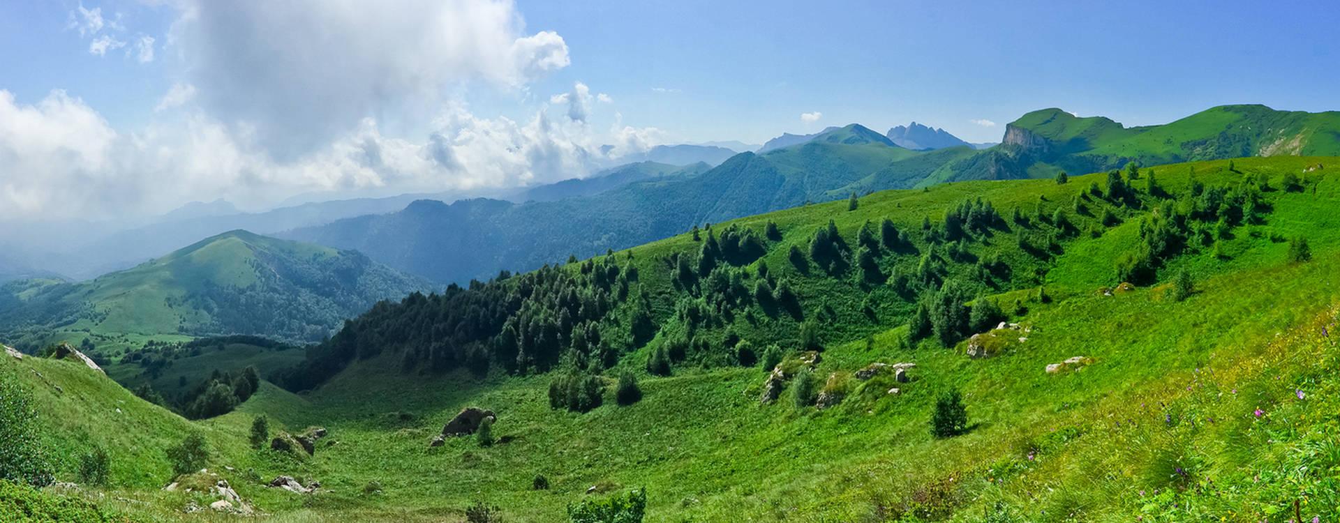 Конные прогулки в горах Адыгеи